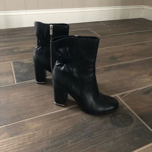 Michael Kors Black Leather Ankle Boot